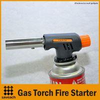 aluminum welding gun - Hiking Camping Gas Torch Fire Starter Maker Flame Gun Lighter One Gas Butane Burner Auto Ignition Weld Flame Gun Kit