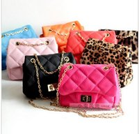 Wholesale Checkered Purse - 2015 new kids handbags childrens bags child Shoulder Bag Purse Messenger Bag Fashion multicolor girl's handbag Top quality in Factory price