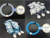 Wholesale clear blue camo mix colors original symbal on beads healthy balance silicone lokai bracelet001