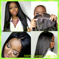 big fringes - African American Wigs with Fringe Full Lace Human Hair Wig Straight Full Bangs Virgin Brazilian Lace Front Wigs for Black Women
