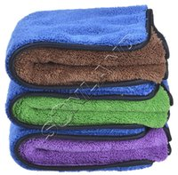 Wholesale 20 Pack GSM Thick Plush Microfiber Towels cmx60cm Car Cleaning Cloth Drying towel Car detailing waxing Buffing Polishing cloths