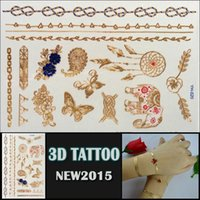 belly oem - OEM gold design tattoo beautiful design for body high quality d Temporary tatoo Sticker YH