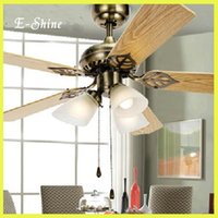 Wholesale Modern Wrongt Iron Ceiling Fan Light with lights Fashion Antique Rustic Fan Light Fixture Ceiling Light Home Decor Luminire order lt no tr