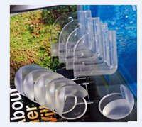 Wholesale Round Corner Protectors Corner Cushions For Glass Tables Or Shelves With M Sticker Baby Safe