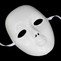 blank half mask - Party Mask White Blank Hiphop Street Dance Mask Half Face Mysterious Masks DIY Bboy Style