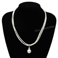 Wholesale Beads Necklaces Fashion Jewelry Resin Pearl Bead pendants wedding gift Woman Lady necklace