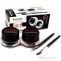 Wholesale 2Pcs Waterproof Cosmetics Tools Eye Liner Makeup Eye Brush Gel Eyeliner PIB