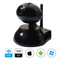 Wholesale 1 MP HD P Wireless Network IP Camera Night Vision IR Cut P2P H Wifi Indoor Pan Tilt Motion Detection Black White F1106