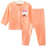 bear underwear - Toddler Baby Set Bowknot Little Bear Printed Infant Underwear Sets Long Sleeve Round Collar Pajamas For Newborn Age K509