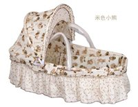 baby fabric panels - Portable Baby Bassinet Newborn Travel Basket For Mother Cotton Twill Fabric Kids Crib with Quilt and Mattress High Quality