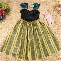 Cheap Frozen Dress Summer Dress Tutu Kids Dress Girl Party Elsa Dress Anna Princess Costume baby girls Dresses Refly