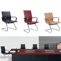 Wholesale Steel Framed Furniture - Hot Sale Leather Office Computer Chair Bow Business Meeting Reception Chairs Steel Frame Chair Armrest Backrest Furniture