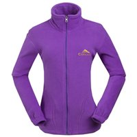 Hiking Fleece Jacket New Womens Classic Golf Full Zip For Work Leisure Wind Resistant Breathable Lightweight Warm Coat