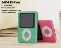 Wholesale MP4 Player with button inch colorful screen WMA AWV video player support TF memory Card built in gate E book MP4 player with FM