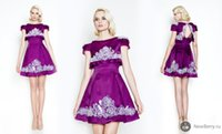 Reference Images Bateau/Jewel Taffeta 2015 Sexy Purple Evening Gowns Bateau Neckline A-line Mini Evening Dresses With Detachable Jacket Dhyz 01