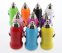 Wholesale 2000pcs The bullet styles New mA MINIUSB CAR CHARGER ADAPTER For all IPhone samsung galaxy all mobile phone