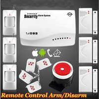 Wholesale Hot New smart IOS Android APP Wireless Wired GSM SMS Home Secure Burglar Voice Alarm System Remote Control Setting Arm Disarm Auto Dialing