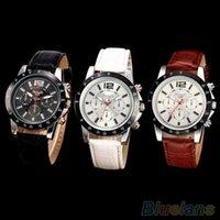 Wholesale Women s Men s Army Military Faux Leather Band Sports Analog Quartz Wrist Watch QDG YGW
