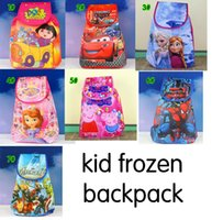 Wholesale anna elsa bag Spider Man pig Sophia DORA AVENGERS backpack cartoon pattern Can stretch Hand bag kids bags