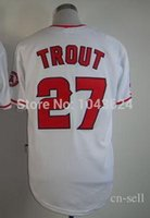 angels hockey - 2015 New Angels of Anaheim Mike Trout White Stitched Jersey Various Discount Cheap Baseball Jerseys Hockey Jerseys