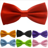 Wholesale 2017 new Adjustable Men s Bow Tie high end Butterfly Tie For Men Tuxedo Bowtie Boys Bow Tie Fashion Solid Color BowTie
