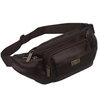 Wholesale Leather Fanny Packs For Men - 2015 Newest Genuine Leather Waist Bags Male Tactical Fanny Pack Adjustable Belt Chest Bag Wallet Hip Bum Waist Pack For Men W50