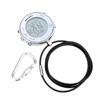 altimeter watches for men - Outdoor Sports Military Compass Watch For Men Women Altimeter Barometer Watch Digital Pocket Watch with Carabiner Hook Relogio