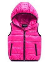 Wholesale boy s winter down vest children s Outerwear Coats Vests amp Waistcoats windbreaker Eiderdown cotton coats Vest baby