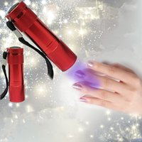 Wholesale UV LED Mini Torch Mini LED Flashlight LM LED Camping Flashlight Torch Waterproof Flashlights Lamp AA Battery Powered Torches DHL Free