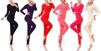 thermo - Underwear Women Sleepwear Autumn High Quality Thermo Thermal Underwear Fashion Brand Thin Tight O neck Long Johns Long Johns Seamless Shaper