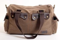 Wholesale Multi function Men s Vintag Canvas Messenger Bag Travel School Bags Satchel Casual Style Tote Handbag