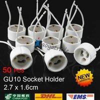 Wholesale 50PCS GU10 Base Socket Wire Connector Lamp Holder Ceramic GU10 Sockets For GU10 LED Lights Bulb Lamp Spotlight Drop Ship