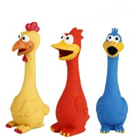 Wholesale Screaming Rubber Chicken Toy Lovely Pet Duck For Dogs Latex Squeak Squeaker Chew Voice Training Toys