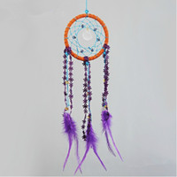 Wholesale New Arrival Handmade Exotic Crystal Dreamcatcher Ojibwe Hangings Wind Chimes Home Decor Drop Shipping IB0019