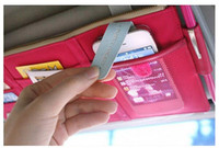 bgs cards - Multifunctional Car Accessories Sun Visor Storage Bag Sorting Bgs Travel Organizer Bag for Phone and Card