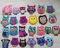 Wholesale Embroidered owl sewing iron on fabric Patch diy craft baby apparel decoration cm