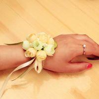 Wholesale Wedding Bouquet Bouquets For Brides And Bridesmaid Wrist Flowers Flower Hand Bouquet Wedding Accessary Wrist Corsage