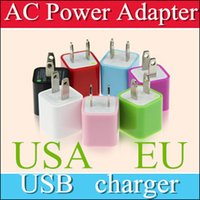 Wholesale DHL FOR iPhone7 US Plug Green Point USB Travel Charger wall plug adapter Charging adapter home chargers for Samsung blackberry A8