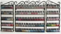 Wholesale 5 Tier Set Iron nail polish rack nail oil store shelf wall shelving cosmetic cream display cabinets Up To Bottles