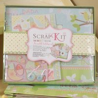 baby scrapbooking kits - New arrivals new born baby theme diy photo album set with scrapbooking paper and D stickers Gift kit