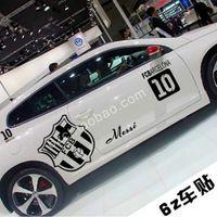 Wholesale Car decoration stickers Barcelona Sports Fans car stickers