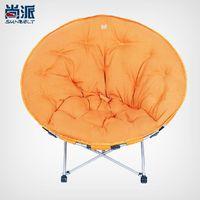 Wholesale Oversized Lazy Moon Chair Folding chair recliner sofa cloth disc balcony leisure chair siesta chair Radar