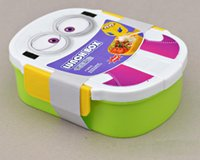 Wholesale New ml Kids Despicable Me Lunch Box Bento Case with Spoon Dinnerware Set Minions Bowl Children Cartoon Lunch box Christmas gift Hot
