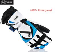 Wholesale Skiing Motorcycle Gloves Waterproof Winter Warm Windproof Protective Gloves Guantes Luvas
