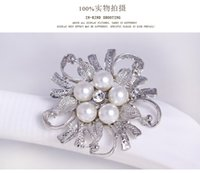beauty ball pins - Women Flower Brooches Fasion Jewelry Pearl K Gold Plated Brooch Beauty Flower Hot Selling Products