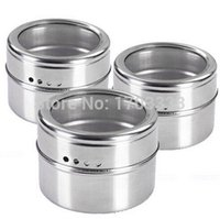 Wholesale 100pcs Magical magnetic Stainless steel spice jar monosexuality tank sauce pot seasoning bottle