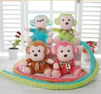 al por mayor boda de la muñeca del mono-Venta al por mayor 10 PCS Moda 17 CM juguetes de peluche pequeña muñeca, correa de bodas muñeca de mono, Monkey mascota actividades regalos, regalos de Navidad