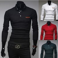 bags men polo - autumn and winter The new men s cotton bag veneer simple fashion cultivating long sleeved shirt POLO