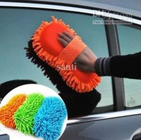 Wholesale Good quality Ultrafine fiber car wash sponge chenille anthozoan gloves car wash gloves car wash supplies