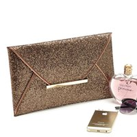Wholesale Shining Sequins Envelope Clutch Evening Bags Pretty Girls Special Occasion Formal Party Black Golden Coffee Hand Bag EB004